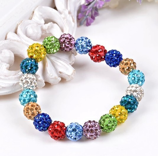 NEWEST TOP Quality Bracelet jewelry For Women Handmade shangrila Bracelet (20 balls) Free Shipping 10 Colors Wholesale