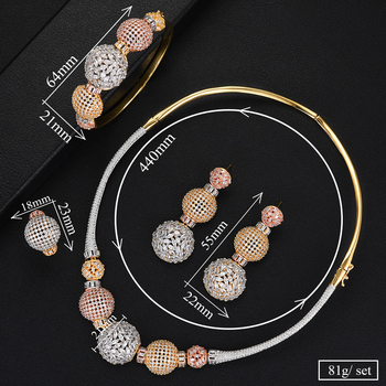 Luxury Ball Chain Nigerian Statement Jewelry set 5