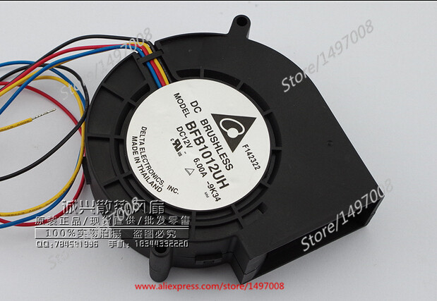 Delta BFB1012UH 9K34 DC 12V 6.00A 97X97X33mm Server Blower fan delta 12038 12v cooling fan afb1212ehe afb1212he afb1212hhe afb1212le afb1212she afb1212vhe afb1212me