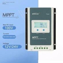 MPPT EPever Контроллер заряда 40A 30A 20A 10A Tracer серия Back-light ЖК-регулятор для свинцово-кислотного литий-ионного аккумулятора
