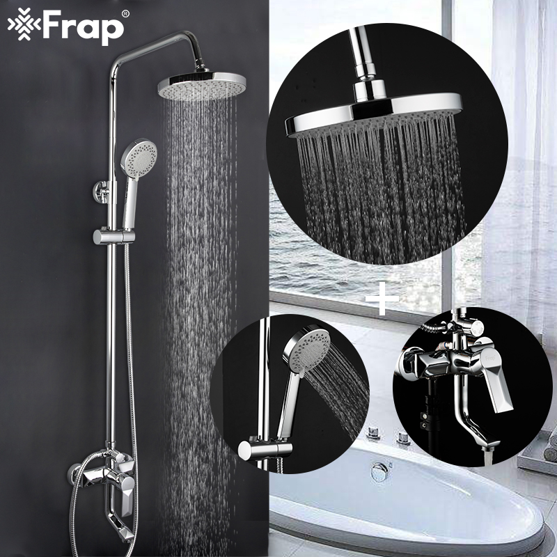 FRAP Shower Faucets high quality wall mounted shower mixers for bathroom shower faucets bath shower head set bathtub faucet tapsFRAP Shower Faucets high quality wall mounted shower mixers for bathroom shower faucets bath shower head set bathtub faucet taps