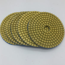 "5pcs 3"" 80mm Premium Quality Assorted Diamond Flexible Polishing Pads Wet Grinding Disc for Marble Stone Glass Ceramics(China)"