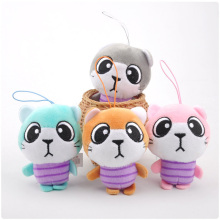 1PC 11CM Meng Big Eyes Cat Plush Toy Filled Cat Plush Doll Mini Cat Bag Pendant Doll Plush Animal Toy Car Decoration Gift цена