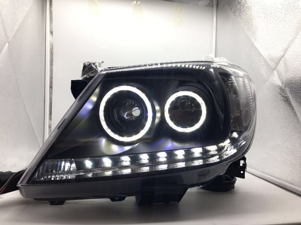 VLAND manufacturer for Car head lamp for Hilux LED Headlight 2008 2012 vigo Head light with xenon HID projector lens and Day xl 2200u manufacturer tv projector lamp