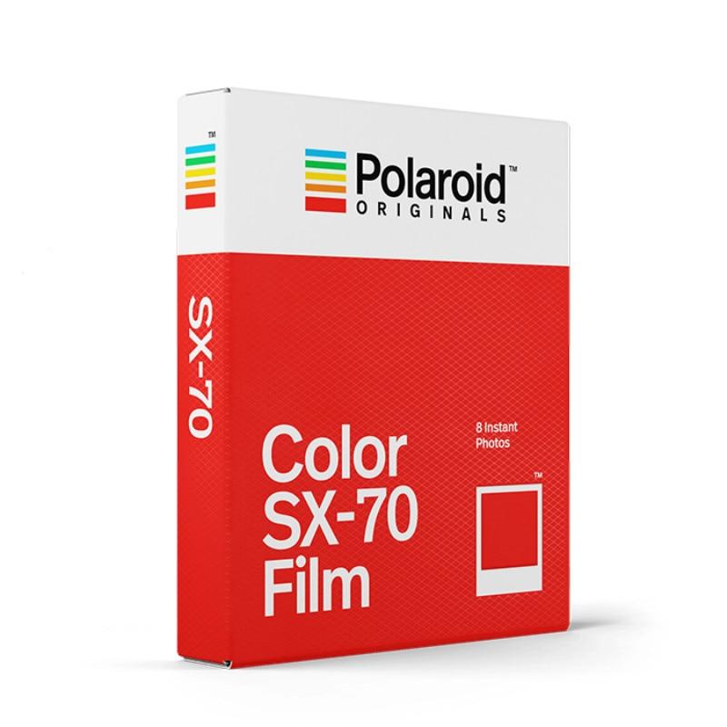 Originaux couleur SX-70 Film 8 feuilles Photos instantanées blanc cadre papier pour Vintage SX-70 boîte Type 1000 caméras