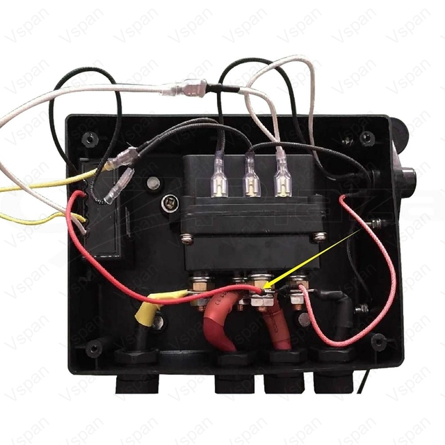Vspan Winch Controller Solenoid Relay 12V 500A DC Switch 4WD 4×4 Boat ATV Control Relay 17,000lbs Capacity Heavy Duty Upgrade