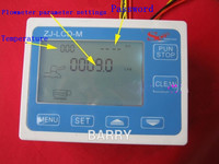 Digital Water Flow Meter Hall flow sensor flow device indicator counter thermometer display Quantitative Controller 0.1 9999L