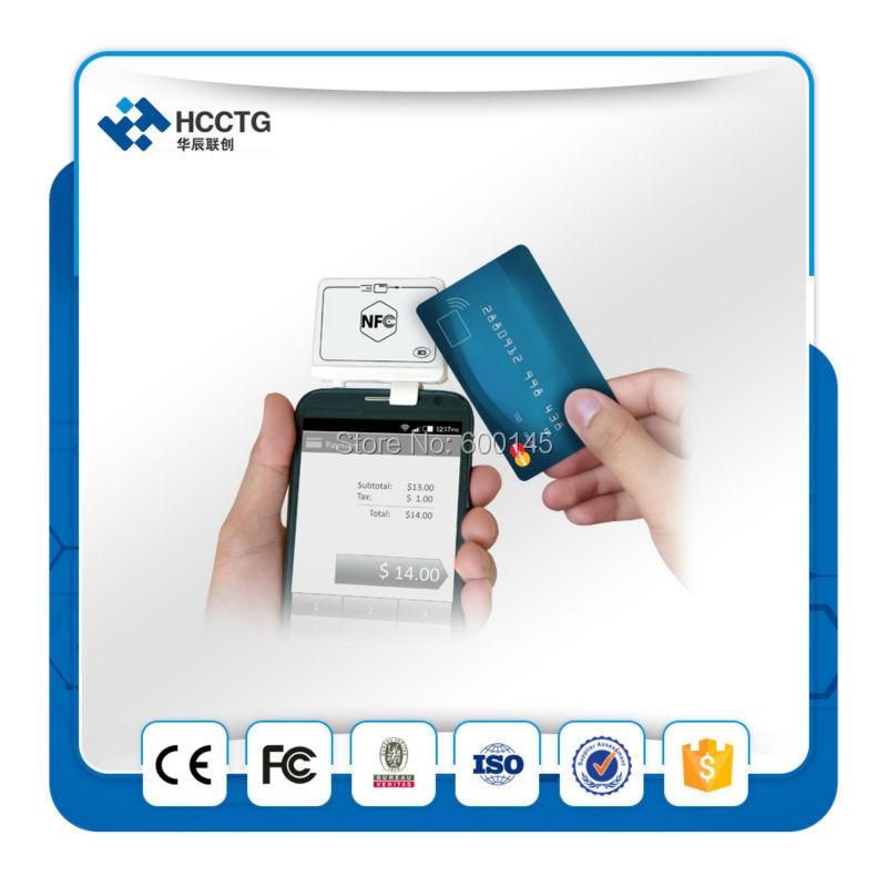 Fabriqué en chine HCC Hot-vente NFC Jack lecteur de carte/téléphone portable lecteur de carte de crédit-ACR35