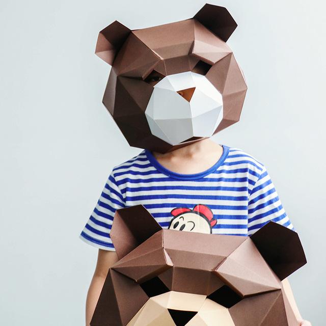 Tête de Singe – Paper Mask 3D Creative