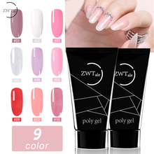 ZWTale Nail Poly Gel 30ml Finger Extension 9 color gel poly Quick Building Art Tips Extend Camouflage UV Builder