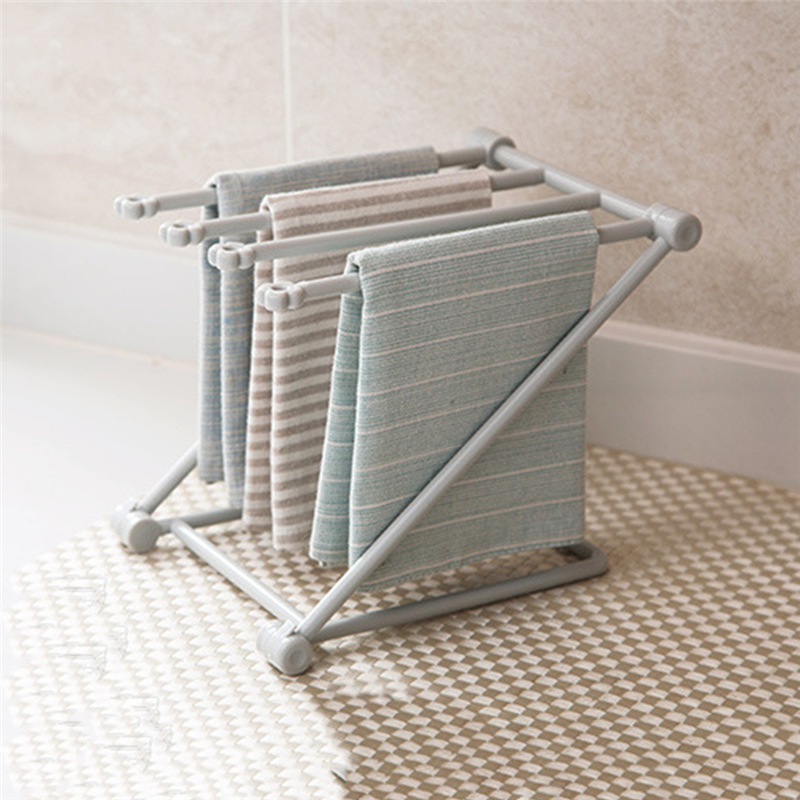 US $2.76 23% OFF|Collapsible Vertical Rag Shelf Kitchen Towel Rack Punching  Free Countertop Storage Rack Cup Holder Cloth Rack-in Storage Holders & ...