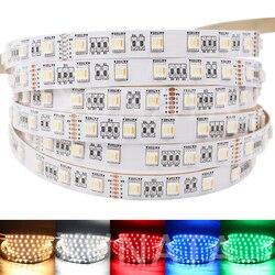 5IN1 RGB + CCT HA CONDOTTO La Striscia 5050 60 leds 30 Leds 96 Leds/m 5 Colori in 1 circuito integrato CW + RGB + WW RGBW RGBWW flessibile Luce del Nastro del Led 12 V 24 V