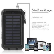 30000 mah Солнечное Мощность Bank внешняя Батарея банк Быстрая зарядка Dual USB Мощность банк портативный, универсальный, мобильный телефон Зарядное устройство