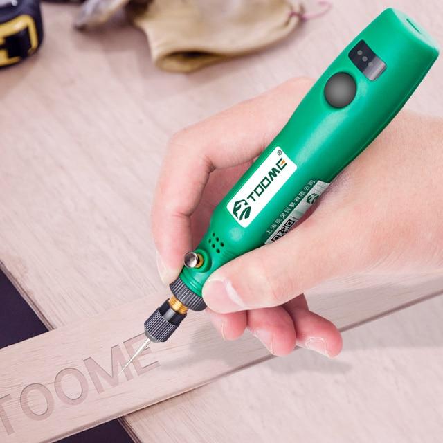 תרגיל אלחוטי כלים חשמלי מיני תרגיל אביזרי שחיקה 3.6V אלחוטי מיני חריטת עט עבור Dremel כלים