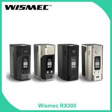 Magazyn usa oryginalny WISMEC Reuleaux RX300 TC box Mod skóra bateria z włókna węglowego mod Wismec elektroniczny papieros vape Mod tanie tanio Elektryczne Mod 3500 mAh Metal 18650 Black Silver requires 4pcs 18650 Battery (Sold Separately) 3-1 4 x 2-1 4 x 1-5 8