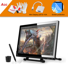 On sale UGEE UG-2150 UG2150 Graphic Drawing Tablet 21.5″ IPS Monitor 1920×1080 HD Display+Screen Protector+VGA Adapter Cable For MacBook