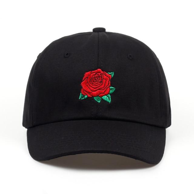 2018 new Red Rose Flower Baseball Cap Women Snapback Cap With Dad Hat Female Hip Hop Sun Summer brand cap hats wholesale 1