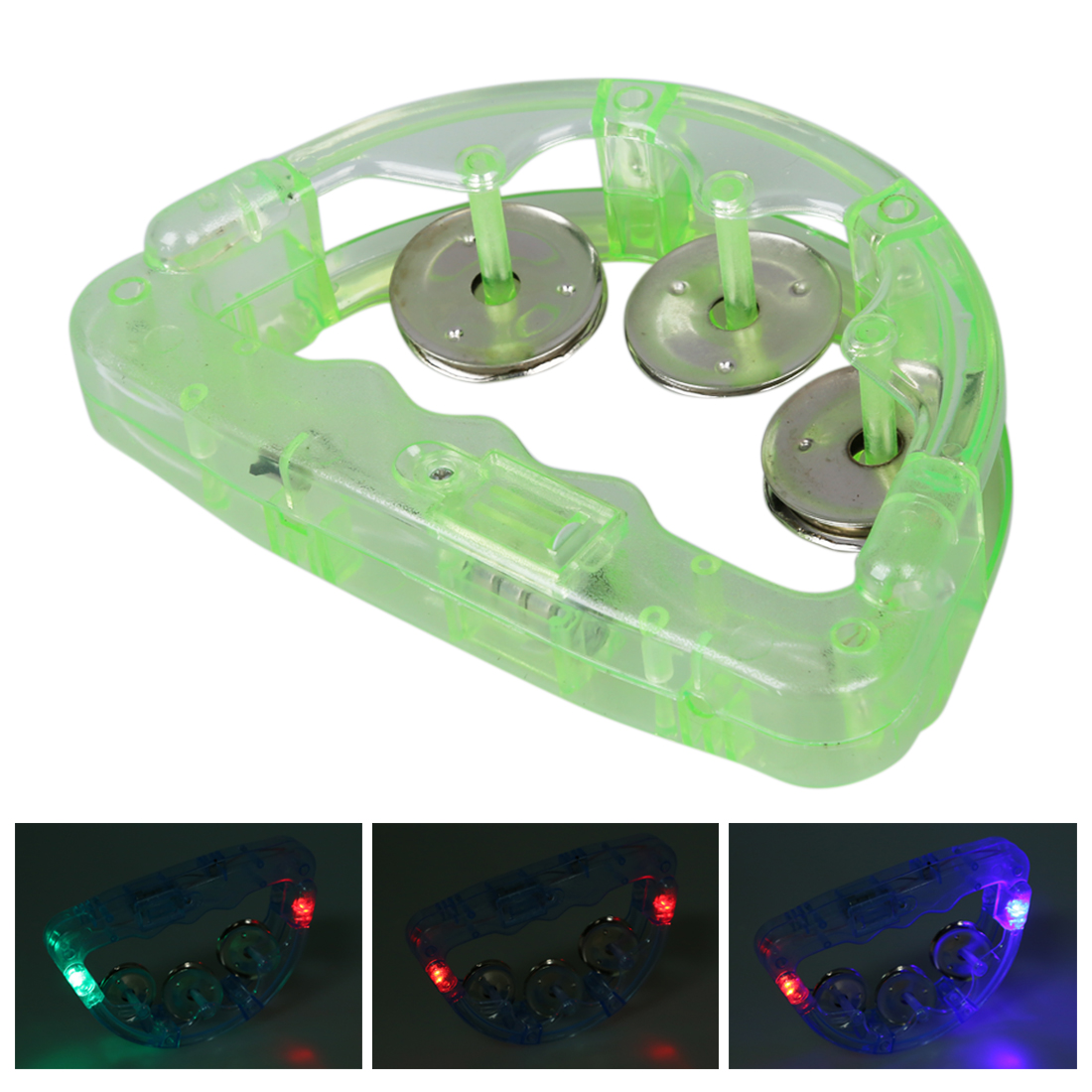 New 2 Flashing Light LED TAMBOURINE for Fun KTV Party Dancing