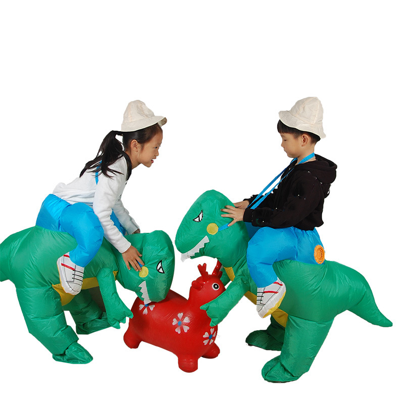 Inflatable Dinosaur Costume for Kids Girls Boys Blow Up Suits Animal Themed Cosplay Fancy Funny Dress Halloween Costume for Kids