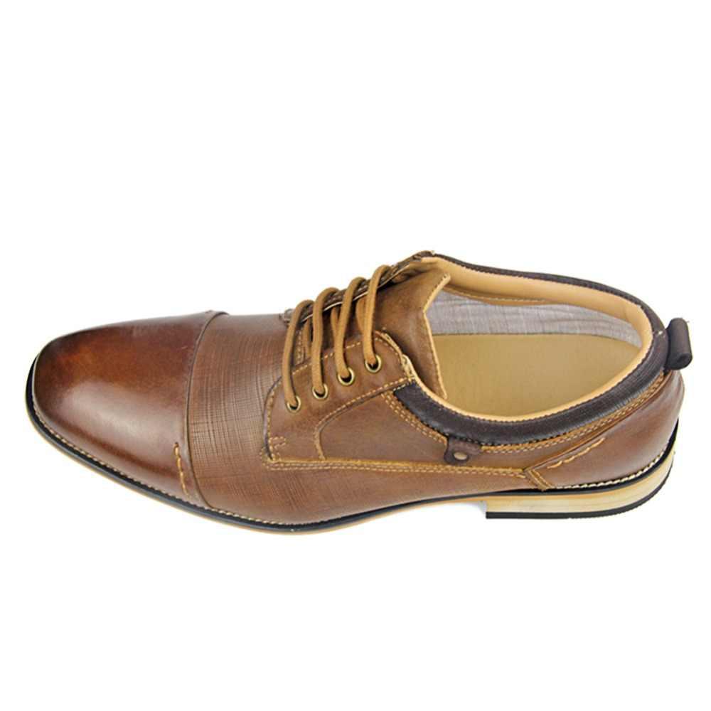 OTTO Genuínos Homens De Couro Sapatos Casuais Sapatos de Couro Novo Verão Buracos Respirável Marca de Luxo Rendas Até Sapatos Masculinos Sapatos Rasos Loafers