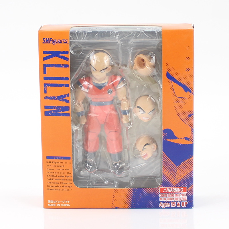 12cm SHF S.H.Figuarts Dragon Ball Super Krillin Kuririn PVC Action Figure Collectible Model Toy