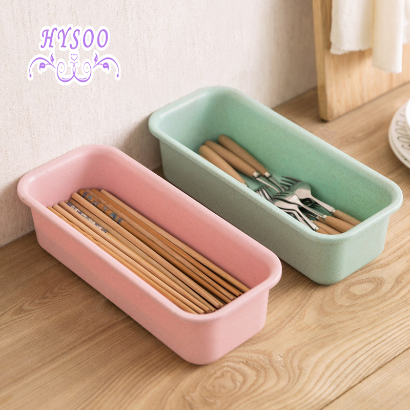 Plastic Leakage Cutlery Storage Box Kitchen Chopsticks Box Household Cutter Fork Spoon Box Cutlery Storage Box HYSOO & ?Plastic Leakage Cutlery Storage Box Kitchen Chopsticks Box ...