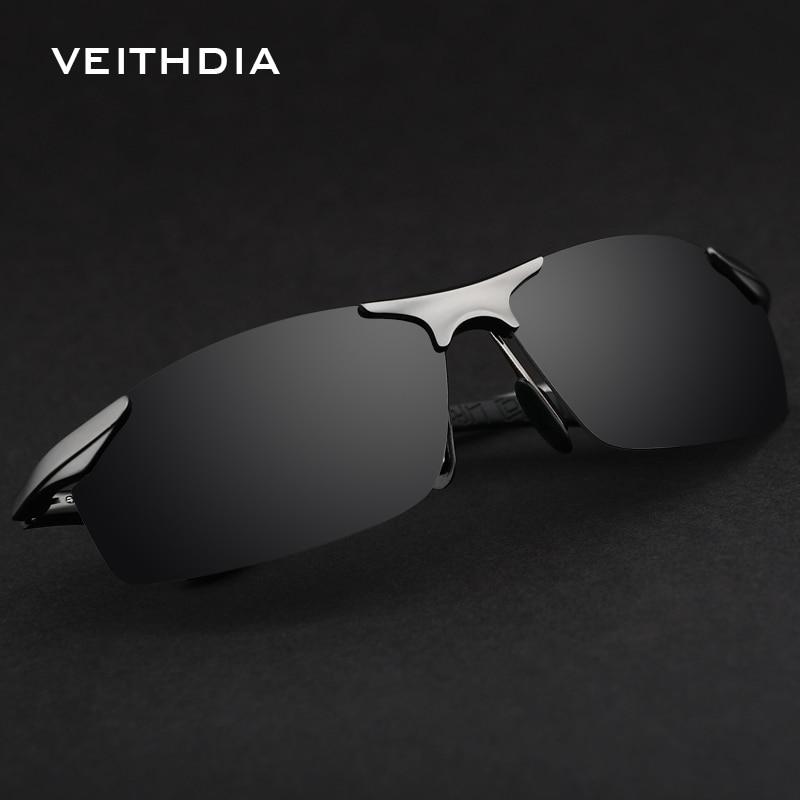 عینک آفتابی قطب دار آلومینیومی با نام تجاری VEITHDIA عینک آفتابی قطبی مردانه عینک آفتابی شیشه آینه آینه عینک عینک لوازم جانبی مردانه سایه 6529