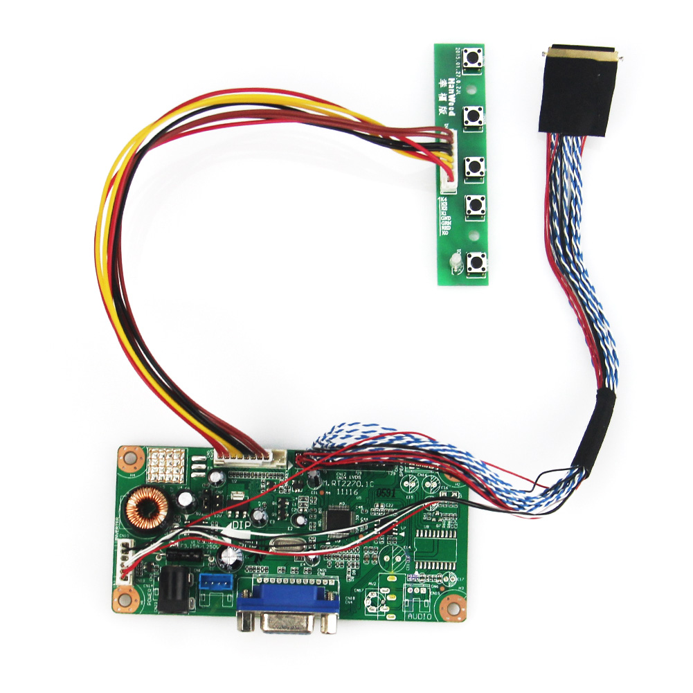 M.RT2270 LCD/LED Controller Driver Board(VGA)  For LP173WF1 HSD173PUW1-A00  LVDS Monitor Reuse Laptop 1920x1080