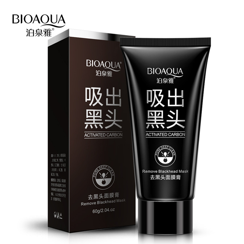 BIOAQUA Deep Cleansing Black Mask Bamboo Charcoal Blackhead Remover Face Mask Skin Care Peal-off Nose Mask