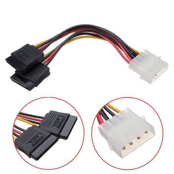 1 шт. 4 Булавки SATA 2 15 Булавки IDE ATA Y Splitter конвертер molex HDD Мощность кабель адаптер последовательный