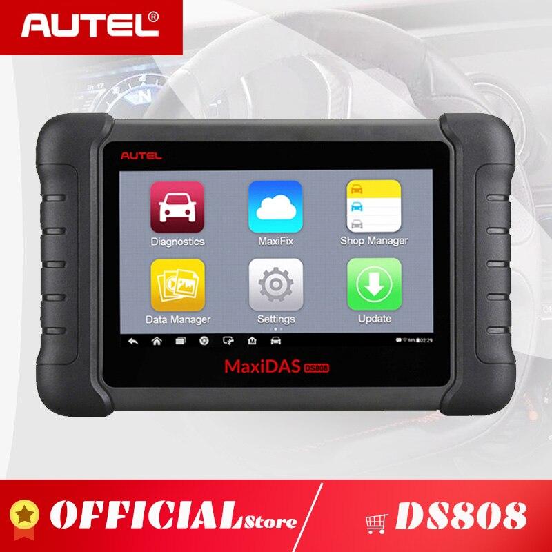 Autel MAXIDAS 2 DS808 OBD2 Ferramenta de Scanner de Diagnóstico Auto OBD ECU Automotivo Tester ODB2 Ms906 Maxisys Programador Chave Imobilizador