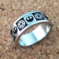 Star Wars Freeshipping 1pc a lot Rebel Insignia IMPERIAL charm ring HJW01