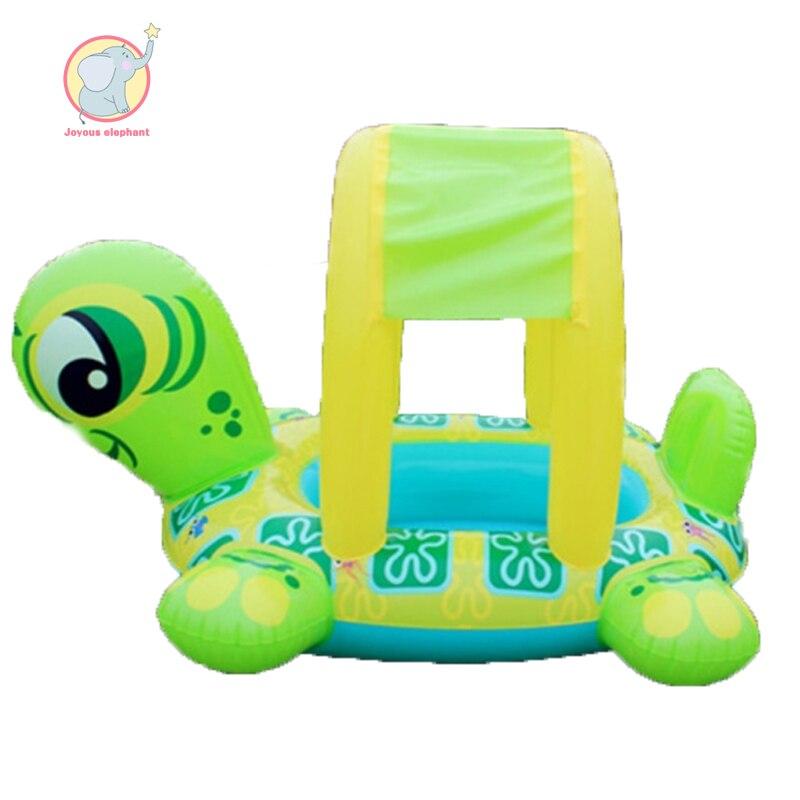 Flotteur gonflable de piscine enfant forme de tortue réglable ombre de soleil siège bateau anneau piscine gonflable plage animal matelas pneumatique jouet