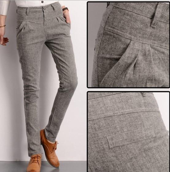 Innovative LINEN WOMEN PANTS Dark Grey Linen Women Pants Linen Women