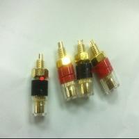 Pure copper AV terminal 4 mm banana plug hole audio socket Transparent terminal The trumpet terminals