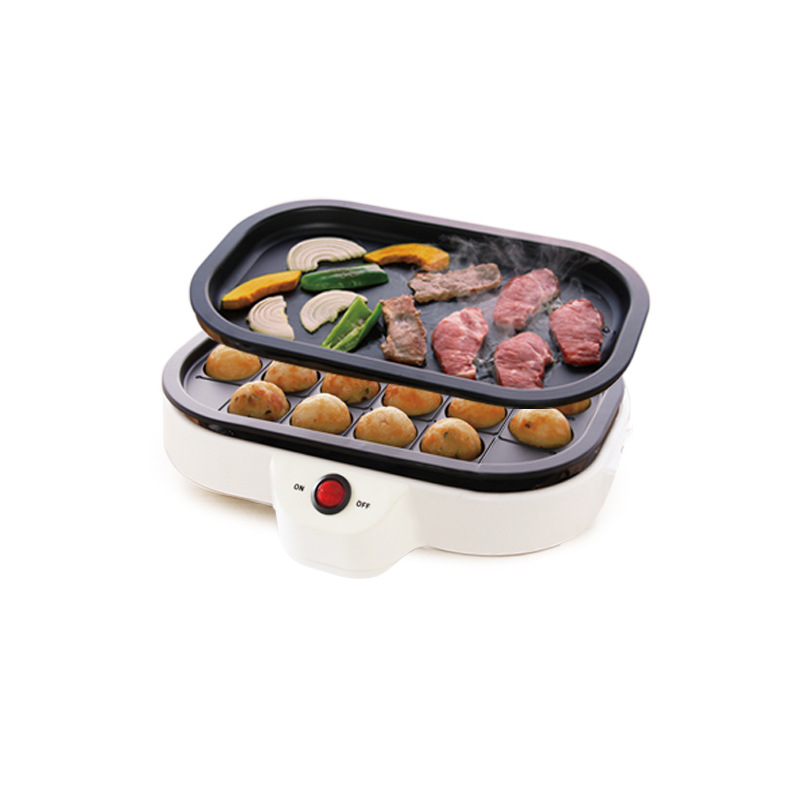 Small Takoyaki Maker BBQ Grill Mini Steak Frying Pan Baking Plates Electric Octopus Balls Machine 20 Holes 110V 220V EU US