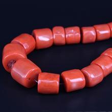 2 нити/лот большие натуральные оранжевые бамбуковые коралловые трубки самородок бусины Подвески градуированное ожерелье для DIY браслет ювелирные изделия аксессуары