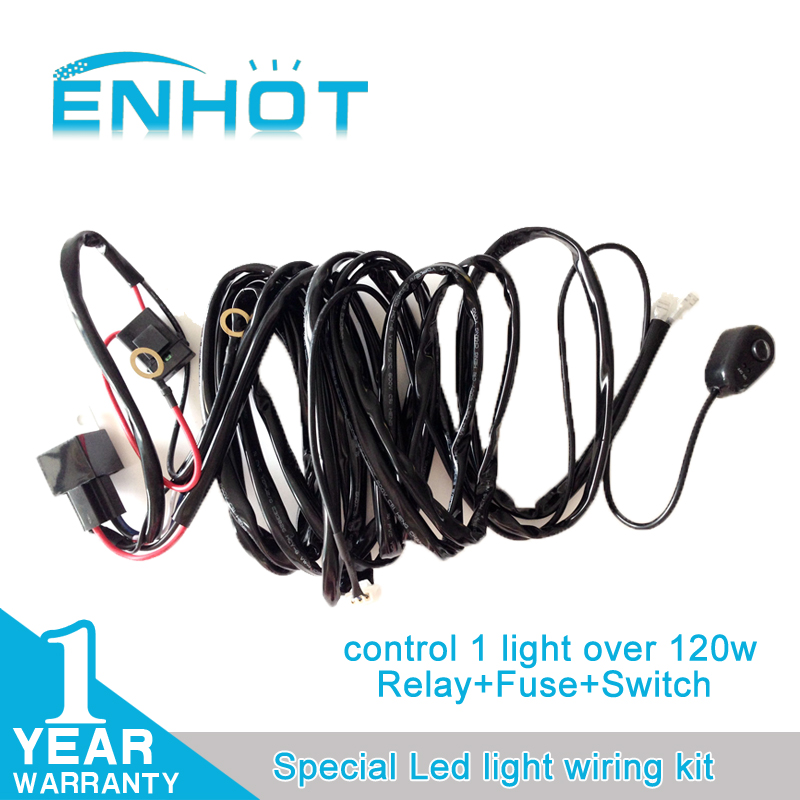 Offroad LED Light Bar Wiring Harness Kit 12V 40A Extension Wire Fuse ...