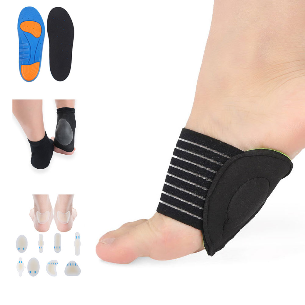 Tcare 1set foot care for sports fan, Gel Massaging Insoles shoes pads, Moisturizing Vented Heel Socks, Orthopedic Arch Support