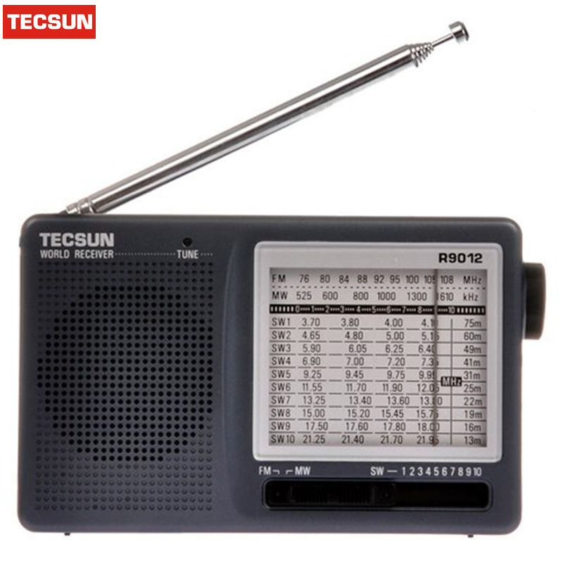 Drop Ship TECSUN R-9012 12 Band FM/AM/SW Radio Multiband Radio Receiver Portable Best Y4122H Tecsun R9012 Radio Desheng Radio