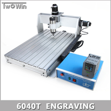 800W MACH3 Control Diy 6040T Mini CNC Machine, Working Area 575 x 375 x 68mm, 3 Axis Pcb Milling Machine, Wood Router.(China (Mainland))