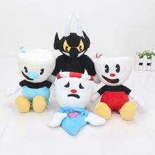 20pcs/Lot Cuphead Mugman The Devil Legendary Chalice plush toys Keyrings bag pendant Plush Doll soft stuffed toys
