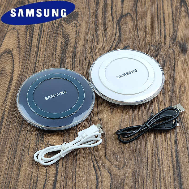 QI Wireless Charger Samsung Original For Galaxy S7 S6 EDGE S8 S9 S10 Plus Note 4 5 Iphone 8 X XS XR Genuine Adapter Charge Pad