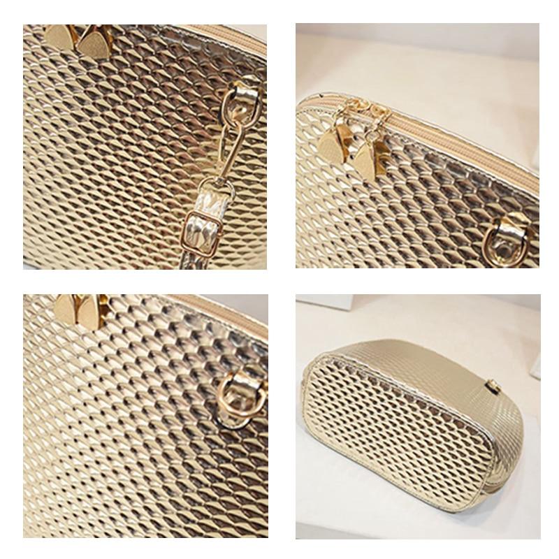 f881c0054 Bolsas de Ombro Feminina Mercado Livre Oportunidade Estilo Fashion Formato  Concha Estampa Xadrez Decoração Cadeias Material Plutônio