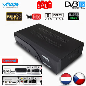 Image 1 - Vmade Fully HD Digital DVB T2 K6 scart/AV Terrestrial Set Top Box Support H.265 HEVC HD 1080p Dolby AC3 DVB T2 TV Receiver Tuner