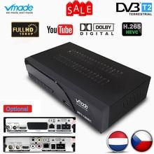 Vmade เต็ม HD DVB T2 K6 scart/AV Terrestrial ชุดกล่องด้านบน H.265 HEVC HD 1080p dolby AC3 DVB T2 ทีวีจูนเนอร์