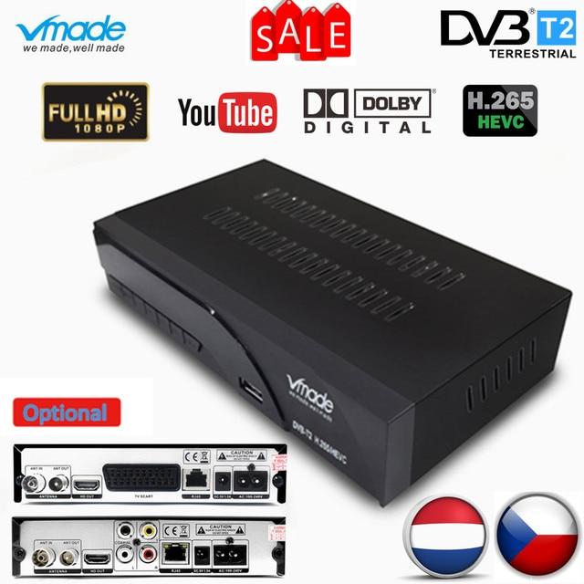Vmade באופן מלא HD דיגיטלי DVB T2 K6 scart/AV Terrestrial תמיכת H.265 HEVC HD 1080p dolby AC3 DVB T2 טלוויזיה מקלט מקלט