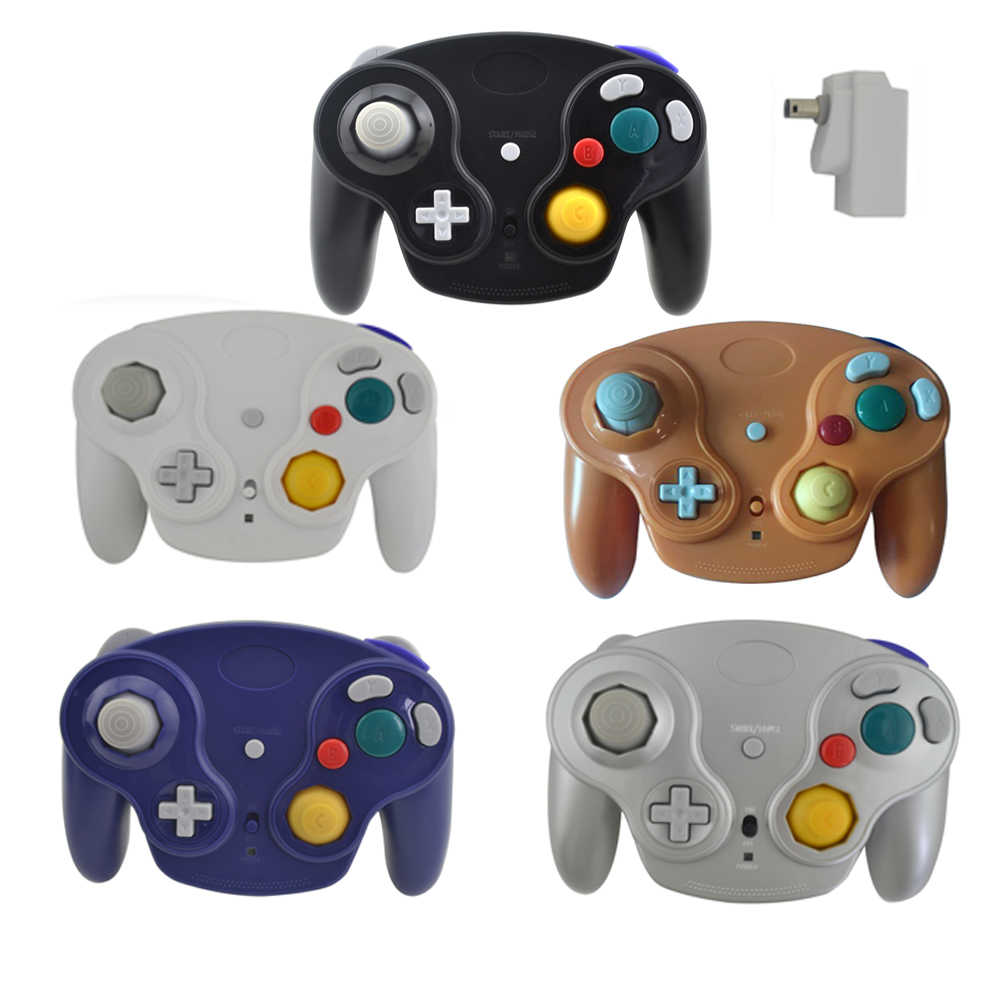 Bezprzewodowy kontroler do gier 2.4GHz do N-G-C pad do grania joystick do Game-Cube do w-i-i not bluetooth