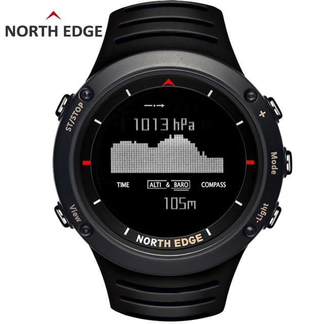 Северная край Для мужчин спортивный цифровые часы Бег Одежда заплыва спортивные часы высотомер барометр Компасы термометр погода Для мужчин