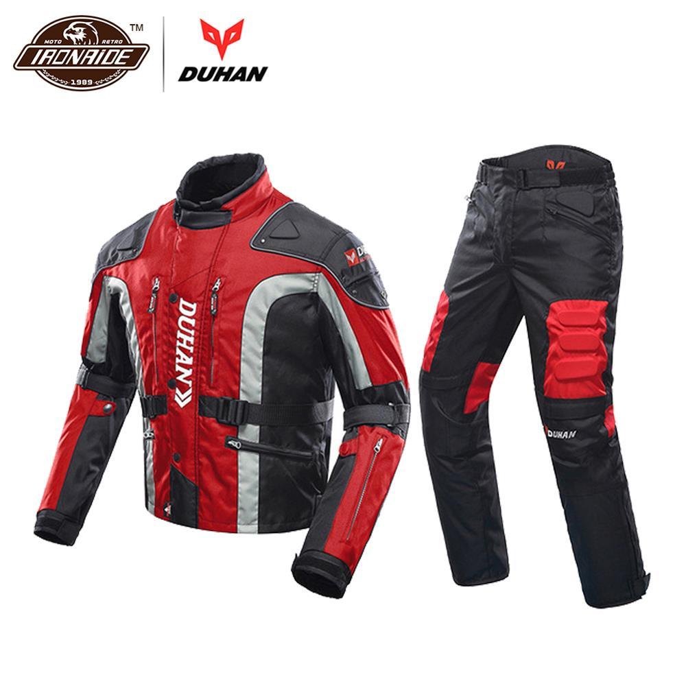 DUHAN automne hiver veste de Moto résistant au froid Moto + protecteur Moto pantalon Moto costume Touring vêtements ensemble de vêtements de protection